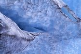 Detailed View Of Glacial Ice In Exit Glacier, Kenai Fjords National Park — Stock Photo