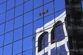 One Building Reflected In Another — Stock Photo