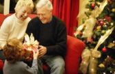 Grandparents At Christmas Time — Fotografia Stock