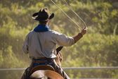 Cowboy With Lasso — Stock Photo