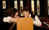 Children Goofing Off In Mass — Stock Photo