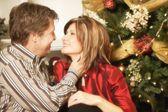 Couple At Christmas — Stock Photo