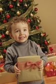 Child With Present — Stock Photo
