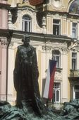 Huss Memorial Old Town Square (Staromestske Namesti) Prague Czech Republic — Stock Photo