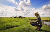 Woman On A Farm — Photo