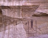 Ancient Pictographs On A Canyon Wall — Stock Photo