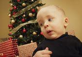 Toddler At Christmas — Stockfoto