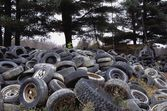 Tires In A Heap — Stock Photo
