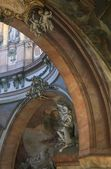 Elaborate Carved Figures And Paintings, Saint Nicholas Church Prague Czech Republic — Stock Photo