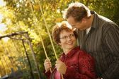 Couple Playing Together — Stock Photo