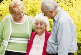 Adoring A Senior — Stock Photo