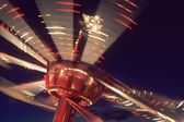 Fairground Ride At Night United Kingdom — Stock Photo