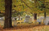 Old Cemetery In Autumn — Stock Photo