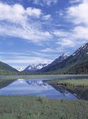 Tern Lake Reflecting Mountains And Sky, Chugach Mountains — Photo