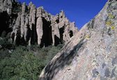 Rhyolite Rock Formations, Chiricahua National Monument — Stock Photo