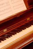 Bir piyano müziği ile — Stok fotoğraf