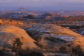 Sandstone Formations, Wooden Shoe Overlook, The Needles District, Canyonlands National Park, Utah, Usa — Stock Photo