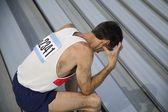 Athlete Feels Defeat — Stock Photo