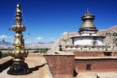 Gyantse Kumbrun From The Pelkor Chode Monastery, Gyantse, Tibet, China — Stock Photo