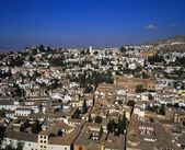 View Of The Spanish City Of Granada, Seen From The Alhambra Palace — Stockfoto