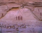Pictograph Art On Stone Wall Of Barrier Canyon — Stock Photo