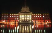 Alberta Legislature Buildings At Night, Edmonton, Canada — Stock Photo