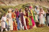 Vrouwen die dansen traditionele dans — Stockfoto