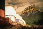 A Train In The Mountains — Stock Photo