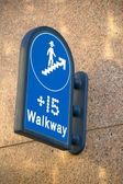 Walkway Sign — Stock Photo