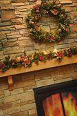 A Christmas Mantle — ストック写真