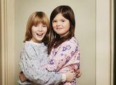 Two Children Hugging — Stock Photo