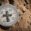 Stock Photo: Compass With Cross As Pointer