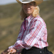 Portrait Of A Cowgirl — Stock Photo
