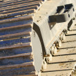 Stock Photo: Treads On Heavy Equipment