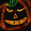 Stock Photo: Neon Light Pumpkin