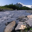 Stock Photo: Worthington Glacier Chugach Mountains
