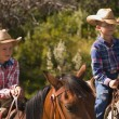 Two Boys On Horses — Stock Photo #31692087