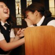 Children Goofing Off During Mass — Stock Photo #31692335