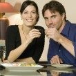 Stock Photo: Young Couple Toasting