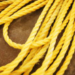 Stock Photo: Yellow Nylon Rope