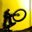 Stock Photo: 3D Image Of Silhouette Of Cyclist