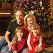 A Family Christmas Portrait — Stockfoto