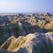 Stock Photo: Eroded Landscape With Banded Colors, Badlands National Park, South Dakota, Usa