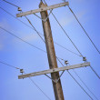 Power Pole And Lines — Stock Photo