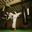 A Man Practicing Martial Arts — Stock Photo #31694245