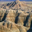 Stock Photo: Eroded Landscape With Banded Layers, Badlands National Park