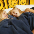 Stock Photo: Girls Have Sleepover