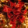 Closeup Of Christmas Bow — Stock Photo