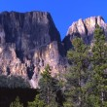 Castle Mountain In Banff Alberta — Foto de Stock