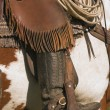 A Close-Up Of A Roper On Horseback — Stock Photo